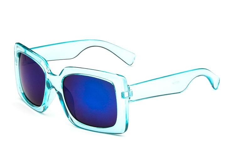 Unisex Transparent Plastic Frame Revo Mirror Lens Square Overized Sunglasses Matte Party Summer Shades(China (Mainland))