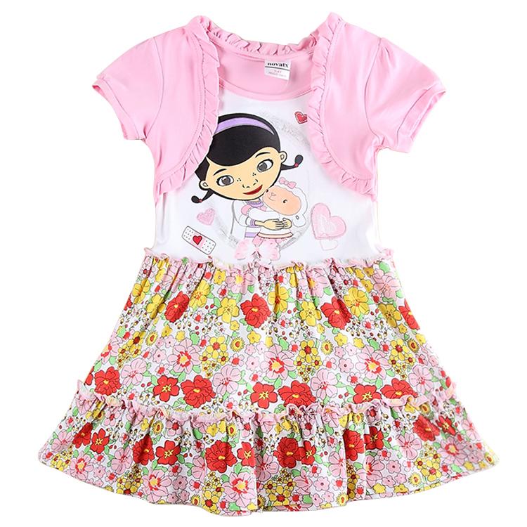 Girl floral dress children party dresses kids tutu clothing girl summer dress children clothing set girl princess dress H5970