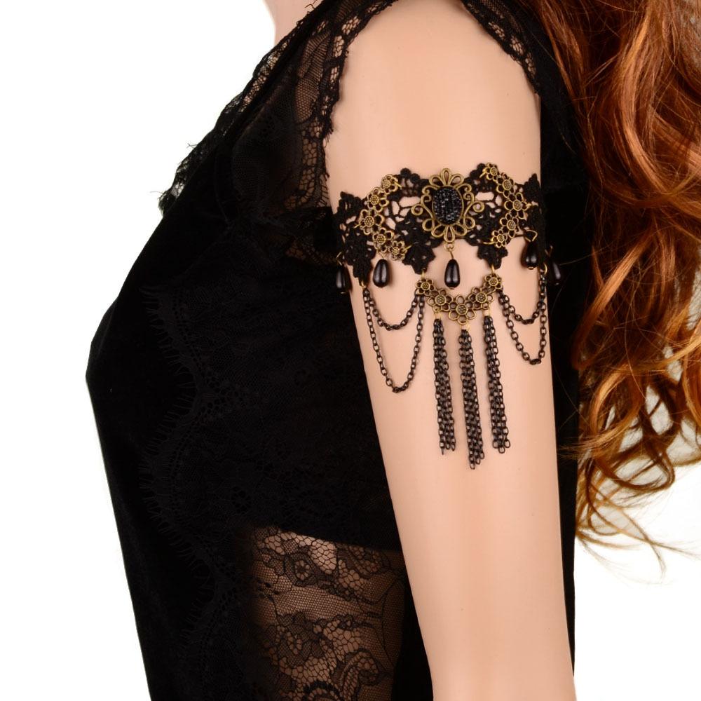 Hot Summer Style 2015 Sexy Ornaments Women Handmade Tassel Pendant Vintage Bohemia Lace Arm Chain Bracelet Fashion Jewelry(China (Mainland))