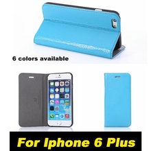 For Iphone 6 Plus Brilliant Genuine Leather Full Protective Case Cover Capa Simple High Quality Cellphone Flip Coque 054