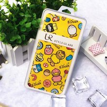 Lovely Duck Cartoon Tempered Glass Film Anti-shock Front Screen Protector Skin Stick Cover for iphone6/6s 6plus Body Protection