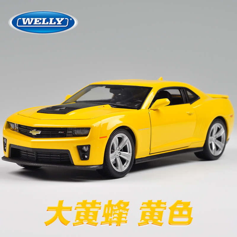 Free Shipping Wholesale 3pcs/pack WELLY 1/24 Scale Car Model Toys Chevrolet Camaro Diecast Metal Car Model Toy New In Box(China (Mainland))