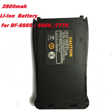 Buy Black Original Spare Battery 2800mah Baofeng Bf-888s Battery Extra bf 666 BF 888S Radio Walkie Talkie Baofeng Accessories for $15.00 in AliExpress store