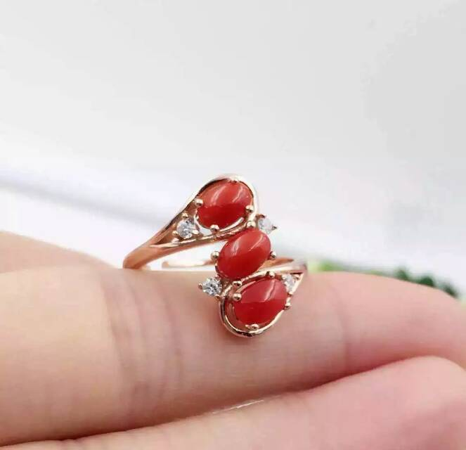 Fashion luxurious personality  natural red coral rings 925 sterling silver natural gem stone ring for women child party jewelry<br><br>Aliexpress