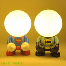 Novelty Led night light Superman Batman DC 5V holiday gift for kids led table light for kid room decoration free shipping(China (Mainland))