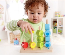Free Shipping!Baby Toys Montessri Educational Toys Counting Stacker Wooden Blocks Kid's Educational Toy Building Blocks Gift