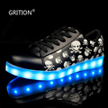 GRIRION 7 Colors in 1 Shining LED Shoes Skull LED Light Up Shoes for Women Girls