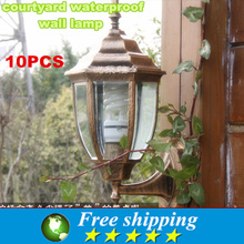 2015  High quality European Style 220v  E27 courtyard balcony/garden/corridor wall lamp,Villa Porch Lamps 360 * 220 * 160 mm,X10(China (Mainland))