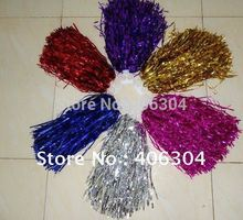 Free Shipping.Pompom,Cheering pompom Metalic pom pom Cheerleading products,30G,6 colours(China (Mainland))