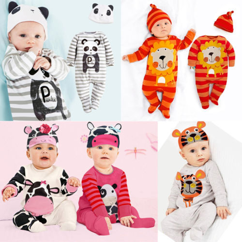 Гаджет  With Hat newborn baby boy girl clothes cute animal rompers one pieces baby unisex romper Infant boys girls Long Sleeve Jumpsuits None Детские товары