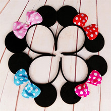 Buy Cute headwear mouse ears Bow Headband Hairband lovely birthday favors Elegant Hair Bands Holder Hoop headwear hair accessories for $1.39 in AliExpress store