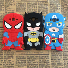 3D Cartoon Hero Batman Spider-Man Captain America Soft Silicone Case Samsung Galaxy J7 J700 J700F J700H Rubber Back Cover - CHAO YE Mobile phone accessories shop store