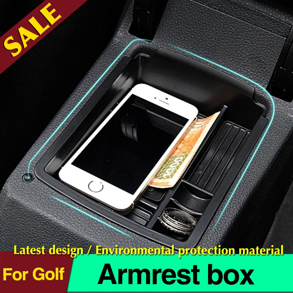 For VW Golf 7 MK7 VII 2013 2014 central storage box broadhurst armrest remoulded car glove storage box(China (Mainland))