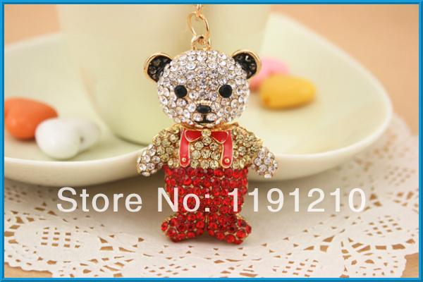 new design lovely bear cheap custom metal keychain 10pcs/lot(China (Mainland))