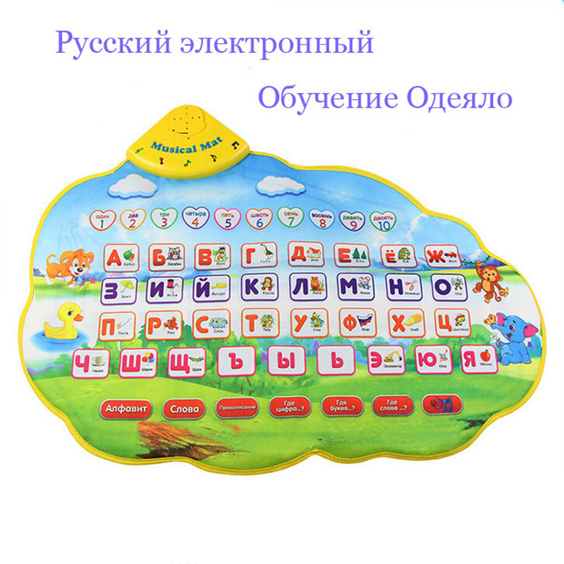 73X49cm Children Learning Mat Russian Language Toy Funny Alphabet Mat Learning Education Phonetic Sound Carpet ABC Toy(China (Mainland))
