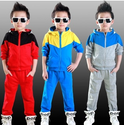 2014 Kids Casual Clothing Boys Girls Korean Long-sleeved Sets Children Sports Jacket Track Suit Pants Baby Outerwear Sportwear(China (Mainland))