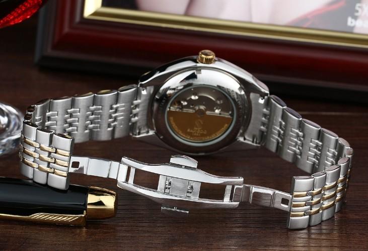 40 мм Sangdo Бизнес смотреть Автоматический Self-ветер движение Сапфировое стекло Высокого качества Механические часы мужские часы 0335C