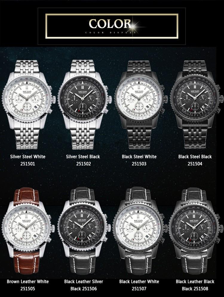 2016 Модного Бизнеса Часы Световой Календарь Стальной браслет 24 Часов Дисплей Бесплатная Доставка