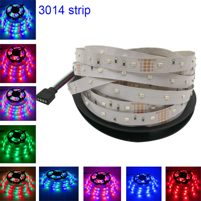 smd RGB led strip light 3014 5m DC12V 54leds/m fexible smd led light led tape ribbon ip20 no waterproof 5m/roll(China (Mainland))
