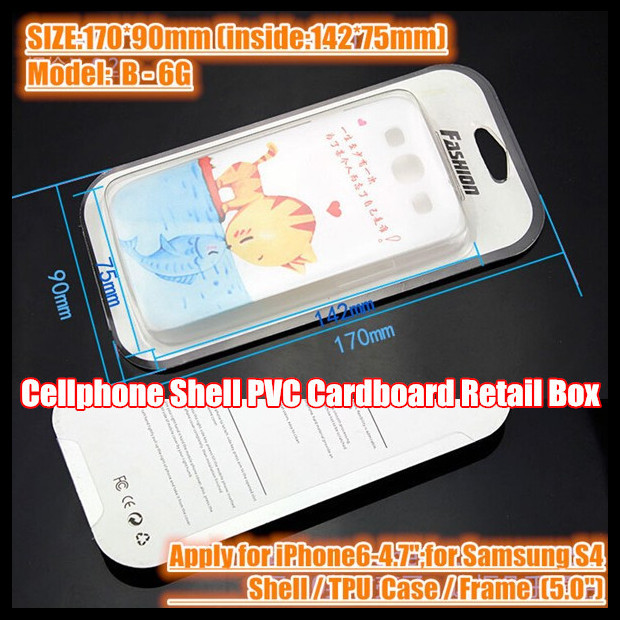 "100pcs!170*90mm Moblie Cell phone Shell/TPU Case/Frame Package PVC Retail Packaging Box,For 6-4.7"";For Samsung S4 5.0"" Case(China (Mainland))"