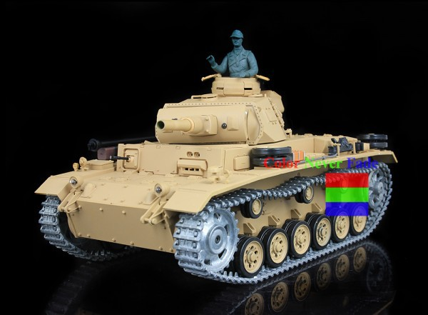 HengLong 1/16 German III H RC Tank Upgraded Metal version Simulate Sound With Smog 3849-1(China (Mainland))