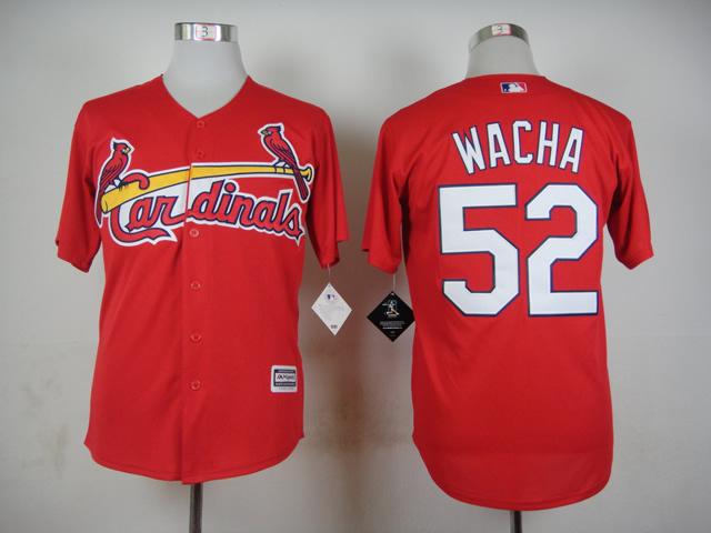 2015 New St. Louis Cardinals Mens Jerseys #52 Michael Wacha Red Baseball Jersey Sewing Logos(China (Mainland))