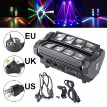Buy 24W RGBW Stage Lighting 4 1 DMX512 LED Spider Beam Moving Head Stage Lighting DJ Party Disco Bar KTV AC90-240V EU/US/UK Plug for $122.30 in AliExpress store