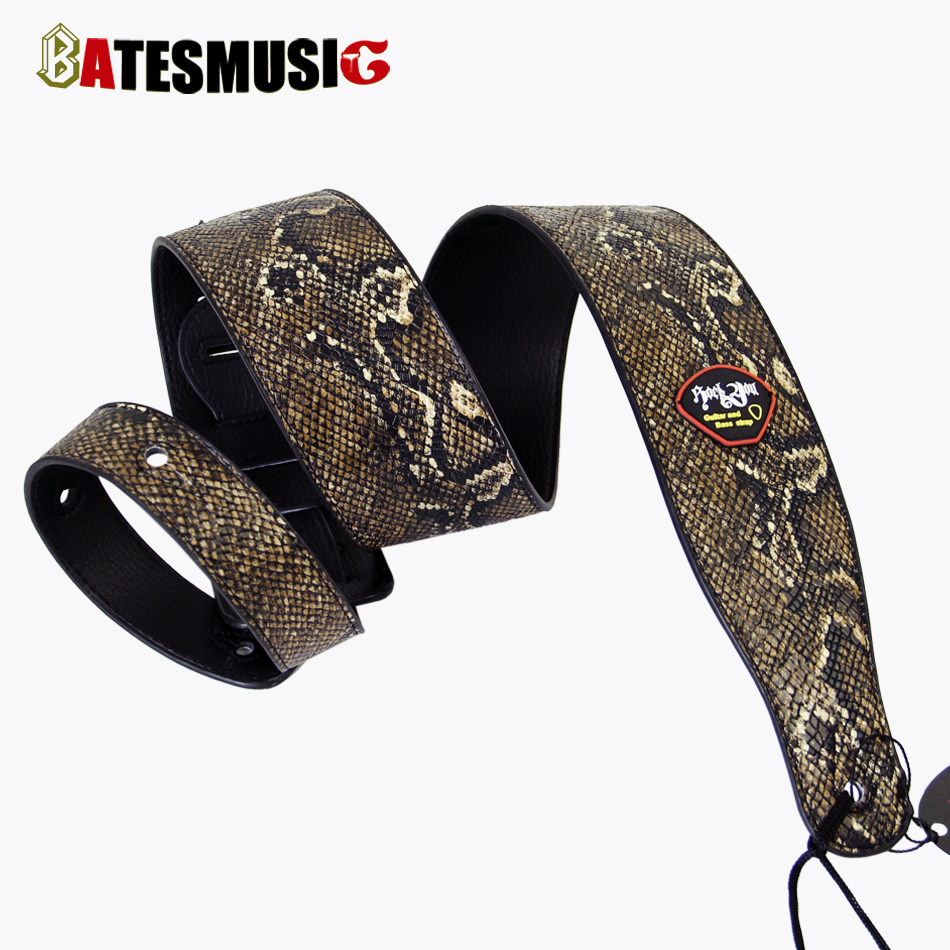 Emulational Snakeskin Bass Guitar Strap Acoustic Guitar Belt Strap Electric Bass Belt(China (Mainland))