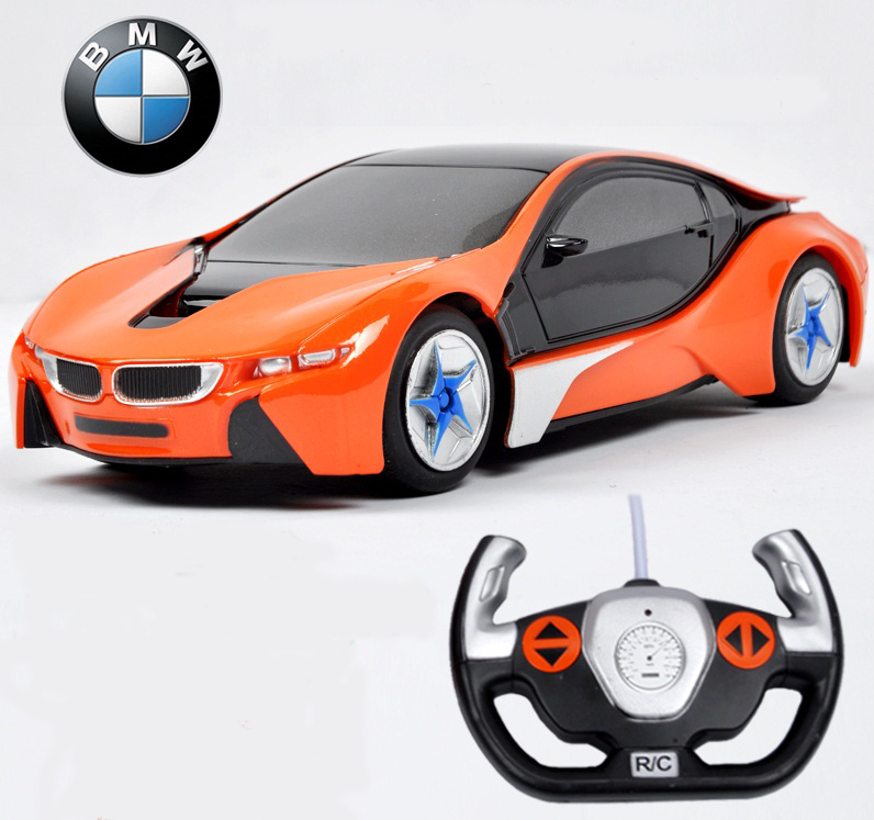 RC Car 1:24 Car Model i8 4 CH Simulation Remote Control Vehicle Electronic RC Car Toy vehicles Collection Gift(China (Mainland))