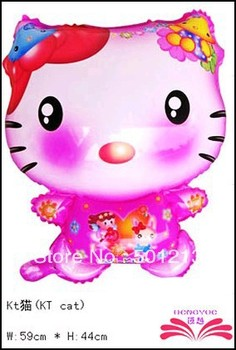 free shipping KT CAT foil balloons ,animal shape balloon.  aluminium foil balloon size 62x46cm