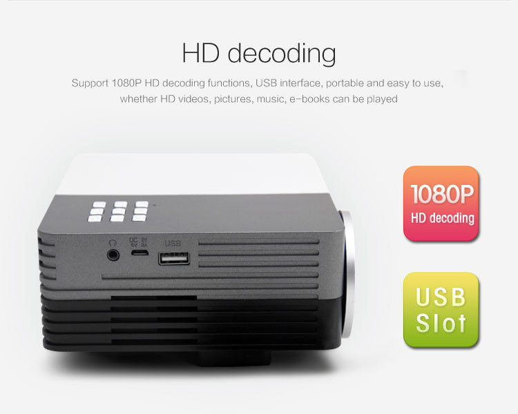 Support 1920*1080 Big Discount New 2015 LED Mini Video LCD 1080P 3D Home Theater Projector Full HD Proyector Beamer Projetor(China (Mainland))