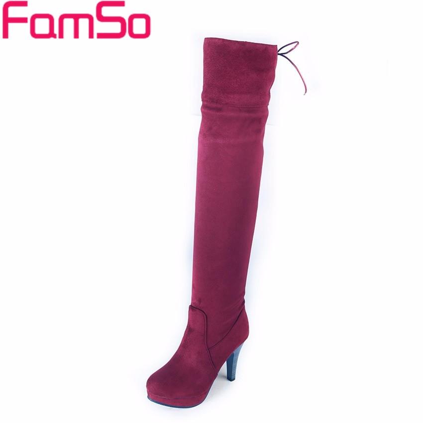 ซื้อ ขนาดใหญ่34-43 2016ใหม่สไตล์R Etroผู้หญิงบู๊ทส์สีดำสีน้ำตาลขาสูงบู๊ทส์ออกแบบรองเท้ารองเท้าฤดูใบไม้ร่วงฤดูหนาวหิมะSBT4193