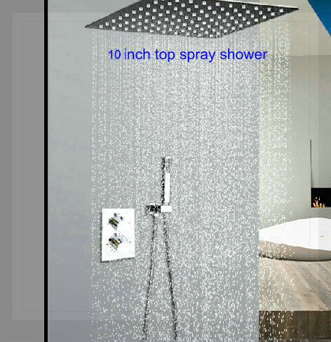 "2-way shower set stainless steel 10"" shower head constant temperture valve panel Bathroom concealed wall mounted torneira(China (Mainland))"