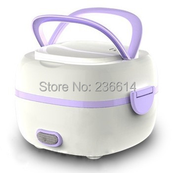 free shipping food heating box electric portable lunch container bento egg cooker 2 in 1. Black Bedroom Furniture Sets. Home Design Ideas