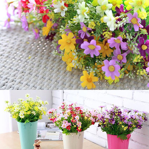 1 Bouquet 28 Heads Fake Daisy Artificial Silk Flower Home Wedding Decoration Christmas Gift 6LIW(China (Mainland))
