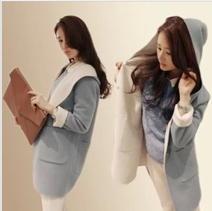 2014 autumn winter women coat woolen medium-long plus velvet size thickening outerwear wool - Nana001 store