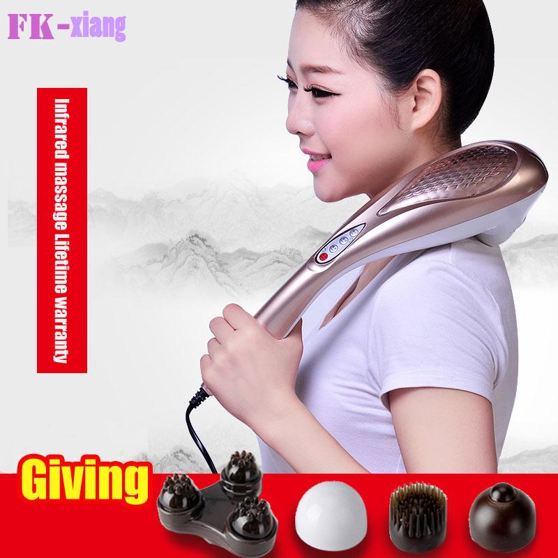 Hot ! Electric Cervical Vertebra Foot Neck Waist Back Vibration Massage Body Beauty Health Care Cellulite Massager Hammer(China (Mainland))