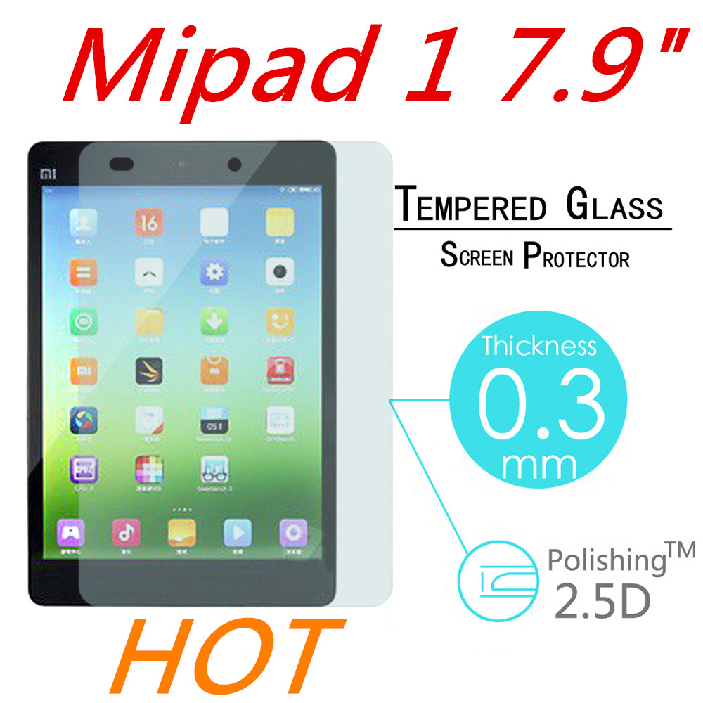 9H 0.3MM Explosion-Proof Toughened Tempered Glass For Xiaomi Mipad Mi pad LCD Tablet PC Film HD Clear Screen Protect Cover Guard(China (Mainland))