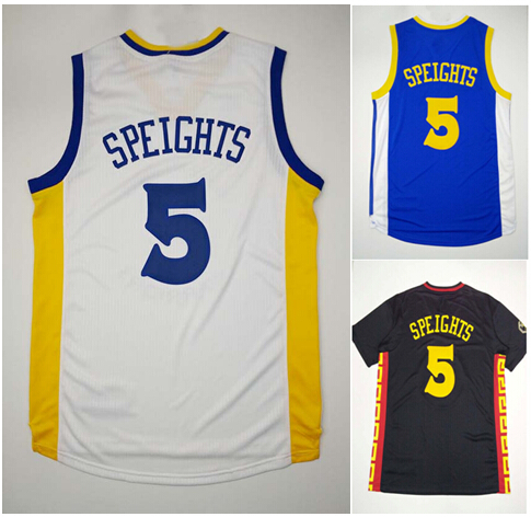 Hot Sale Basketball #5 Marreese Speights Basketball Jersey Blue White Stitched Name And Letter With 2015 Final Patch Hot Sale(China (Mainland))
