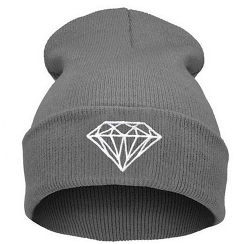 New Winter Hats For Women Men Unisex Casual Diamond Knitted High Quality Hot Warm Hip Hop Beanies(China (Mainland))
