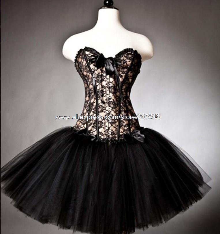 Goth Prom Dresses Corset Prom Party Dress