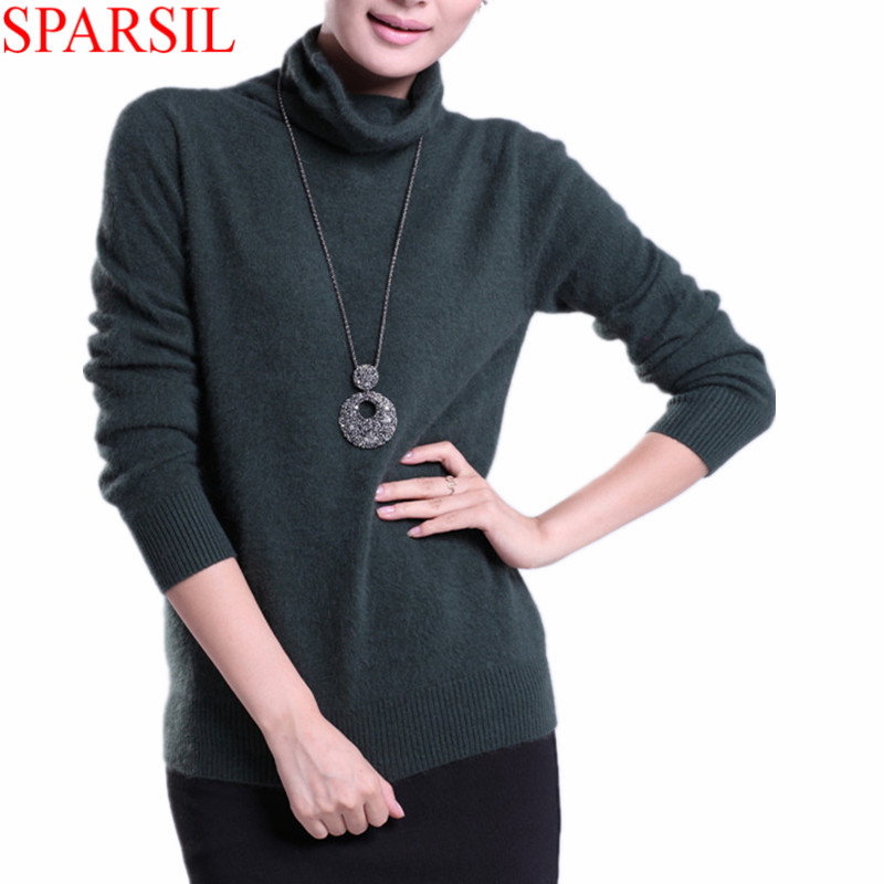 Top sale colors 2014 NEW European Style Full Sleeve Women Fashion Pullovers Turtleneck Knitted Mink Cashmere Sweaters WomenОдежда и ак�е��уары<br><br><br>Aliexpress