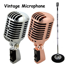 Professional Wired Vintage Classic Microphone Top Quality Dynamic Moving Coil Mike Deluxe Metal Vocal Old Style KTV MIC  Z6