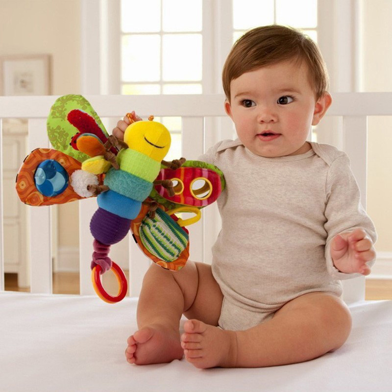juguetes bebe New Mobile Baby Toddler Toy Bed Around Plush Toys Music Rattles Butterfly 0-12 Months Doll Kids - Jeff Carl Exclusive agency store