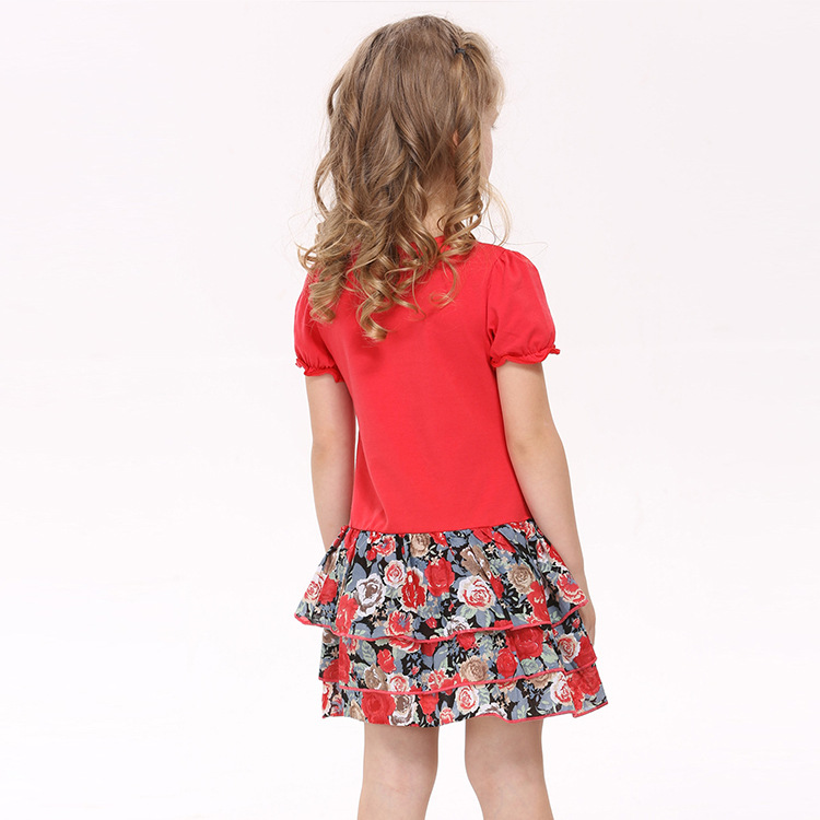 fashion Rose red kids wear,baby girls dress up for girls All for children clothing accessories vestidos infantis de menina(China (Mainland))