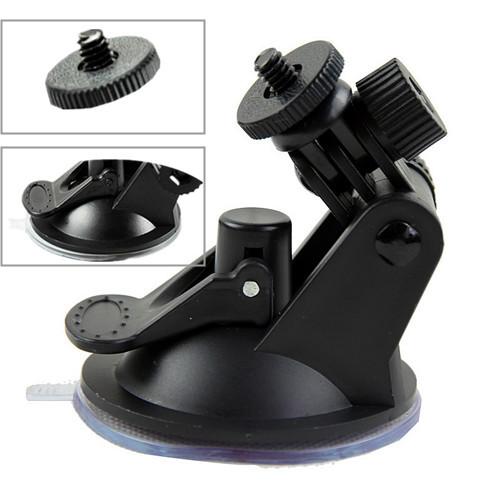 2015 Hot Sale Universal Black MINI Sucker Car Driving Recorder Mount DVR Bracket Screw Connector Rack DV GPS Camera Stand Holder(China (Mainland))