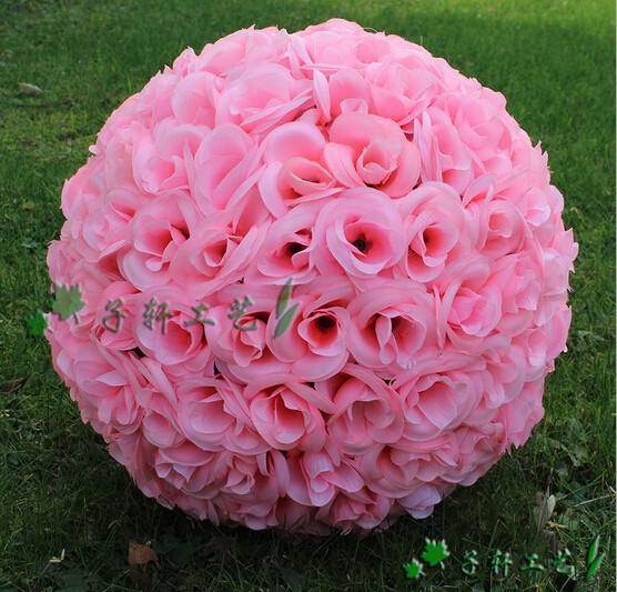 Cm artificial silk flower rose balls wedding centerpiece