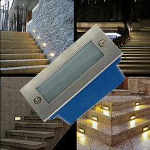 HI-Q Outdoor IP66 led path lights 3W Warm white 85-265v led Wall lamp waterproof for garden plaza stairway Underground lighting(China (Mainland))