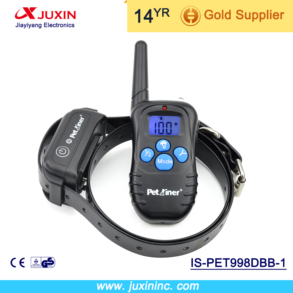 Petrainer 998DBB-1 Remote Dog Training Collar Rechargeable And Vibration Shock Electronic 300M 100Level Dog Electric Collar(China (Mainland))