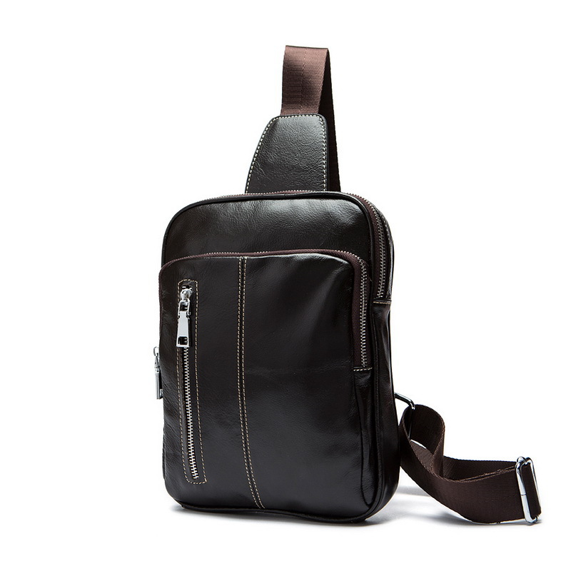 Genuine leather men chest bags leisure chest pack high-grade leather men messenger bags cowhide leather shoulder crossbody bag(China (Mainland))